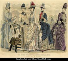 Day dresses, 1887, Peterson's Magazine