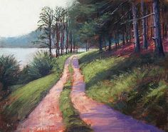 Pine Tree Trail - Landscape Paintings by Joe Kazimierczyk