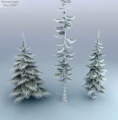 Winter Trees Low Poly