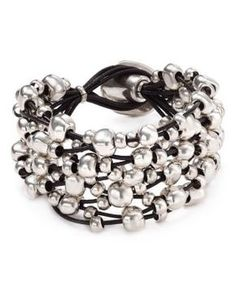 Uno de 50 Not to Be Wrap Bracelet Jewelry & Accessories - Bloomingdale's Leather Jewelry, Beaded Jewelry, Silver Jewelry, Silver Ring, Silver Charms, Silver Earrings, Jewellery, Silver Bracelets, Jewelry Bracelets