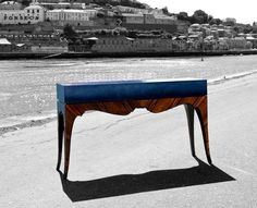 Reflection CONSOLE 'The reflection of the Douro river. Luxury Furniture, Furniture Design, Bat Eyes, Great Memories, Vanity Bench, Luxury Branding, Reflection, Console, Hall Tables