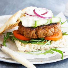 These Moroccan Lamb Burgers by salrampant are perfect for dinner tonight.