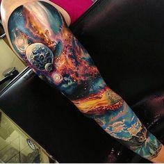 Male Cosmic Tattoo Full Sleeve - Projekty do wy .- Männliche kosmische Tätowierung volle Hülse – Projekty do wypróbowania – Male Cosmic Tattoo Full Sleeve – Projekty do wypróbowania – # sleeve # male - Galaxy Tattoo Sleeve, Space Tattoo Sleeve, Full Sleeve Tattoo Design, Arm Sleeve Tattoos, Amazing Sleeve Tattoos, Forearm Tattoos, Trendy Tattoos, Popular Tattoos, Tattoos For Guys