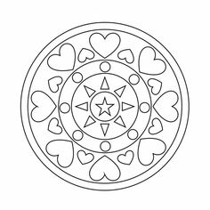 Mandalas Drawing, Mandala Coloring Pages, Colouring Pages, Coloring Books, Zentangles, Unique Drawings, Easy Drawings, Mandala Design, Mandala Art