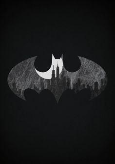 Minimalistic superhero posters by Alex Litovka - Batman Poster - Trending Batman Poster. - Batman // Minimalistic Superhero Posters by Alex LItovka Nightwing, Batwoman, Batgirl, Batman Wallpaper, Superhero Signs, Superhero Poster, Batman Poster, Batman Superhero, Superman Games