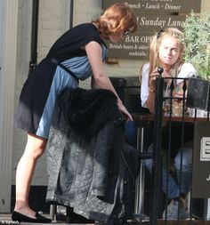 The friends Princess Eugenie and Cressida  chatted as they tucked into lunch yesterday