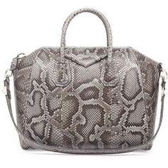 Givenchy Antigona Medium Python Satchel Bag