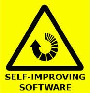 Self-Improving Software in an above-human world.