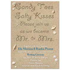 Beach Destination Wedding Save The Date SAND By Fancythisphoto