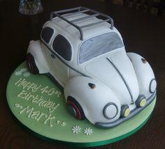 VW Beetle car cake, I love that cake Co. Bedford