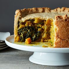 Hot water crust can handle deep-dish like this.