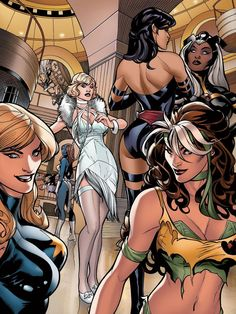 Glamorous X-Girls  Art by: Terry Dodson  Are you voting for any of these as your top 3 x-characters?