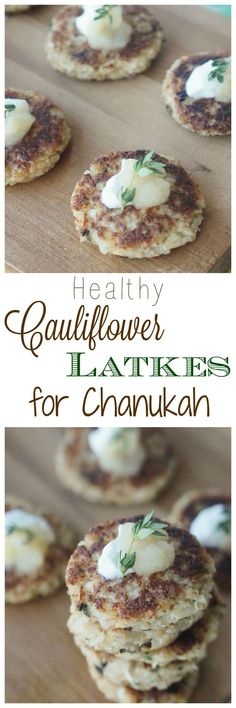 Try my Healthy Cauliflower Latkes for Chanukah (Paleo, Low Carb, Low Fat Recipe)! Try my Healthy Cauliflower Latkes for Chanukah (Paleo, Low Carb, Low Fat Recipe)! Healthy Appetizers, Easy Healthy Recipes, Low Carb Recipes, Vegetarian Recipes, Gf Recipes, Skinny Recipes, Kosher Recipes, Cooking Recipes, Drink Recipes