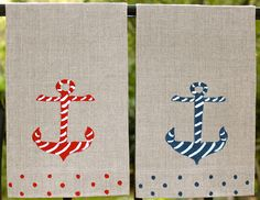 Nautical Guest Towel Set with Free Shipping. $25.00, via Etsy.