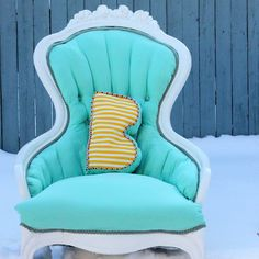 Love! Vintage, girly chair redo