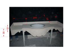 Sink in stone - http://achillegrassi.com/en/project/lavello-in-pietra-bianca-di-vicenza/ - Sink in white stone from Vicenza Dimensions:  200cm x 70cm x 30cm