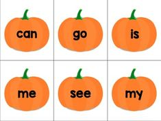 Pumpkin Sight Word SLAP Cards - EDITABLE FREEBIE
