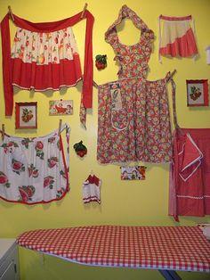 I love Betsy's laundry room, especially her polka dot ironing board.
