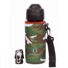 Ecococoon Cuddler 500ml green camouflage bottle cover - Biome Eco Stores