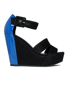 Kensie Girl Galia Wedge. Love the mix of patent and velvet on these...