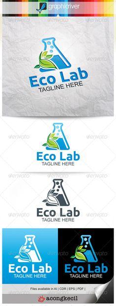 Eco Lab V.4 — Vector EPS #leafs #company