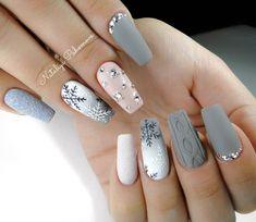 Wondrous Nail Arts for Ladies - Vincisjournal Xmas Nails, New Year's Nails, Holiday Nails, Christmas Nails, Hair And Nails, Gel Nails, Gel Nail Art, Acrylic Nails, Nails Factory