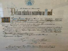 Reprodução do documento da Lei Áurea (Lei da Abolição da Escravatura)