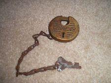 Vintage Lock and Key Patent 556238