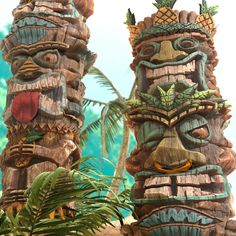 Tiki by Javier PerezBeen away on substance island. No modeling No Sculpting. Broken up into 4 graphs. Rendered in Marmoset Wood Sculpture, Sculptures, Tiki Art, Tiki Tiki, Tiki Head, Tiki Totem, Festivals, African Tribes, Surf