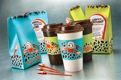 Unique Graphic Design by Hillary Fisher, a Designer from the USA. It's the zombie hand spill guards that make the package. Cool Packaging, Food Packaging Design, Coffee Packaging, Coffee Branding, Packaging Design Inspiration, Brand Packaging, Retail Packaging, Food Product Development, Walking Dead