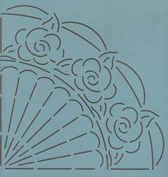 """Rose Fan 10"""" - The Stencil Company"""