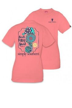 """Simply Southern """"Beautifully Loved"""" Tee- Peach from Chocolate Shoe Boutique"""