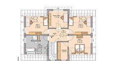 Kern-Haus Familienhaus Aura: Grundriss Obergeschoss