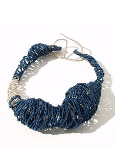 Gabriela Horvat Bracelet: Selfportraits - Cocoons, 2009 Silk, copper, chaguar, wool, hand dyed