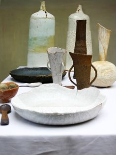 """rough"" ceramics by Jane Wheeler"