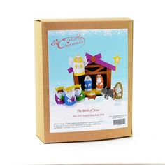 Christmas Novelty DIY Craft Kit Create a scene from the birth of Jesus. Have fun creating Christmas decorations to hang around your home or to give as a special handmade Craft Kits, Diy Kits, Craft Projects, Fun Crafts, Crafts For Kids, Christmas Crafts, Christmas Decorations, Birth Of Jesus, Xmas Gifts