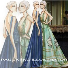 Alberta Ferretti Limited Edition Fall 2015 Couture | Illustration by Paul Keng