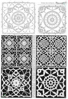 Transcendent Crochet a Solid Granny Square Ideas. Inconceivable Crochet a Solid Granny Square Ideas. Crochet Motif Patterns, Granny Square Crochet Pattern, Crochet Blocks, Crochet Diagram, Crochet Squares, Irish Crochet Charts, Crochet Bedspread, Crochet Tablecloth, Crochet Doilies