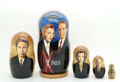 Matryoshka nesting doll The X-files | ArtMatryoshka - Toys & Hobbies on ArtFire