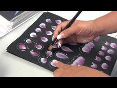 Como pintar flores pinceladas (2/4) - YouTube