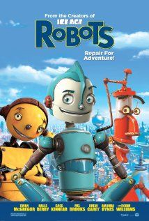 """""""Robots""""  In a robot world, a young idealistic inventor travels to the big city to join his inspiration's company, only to find himself opposing its sinister new management."""