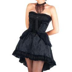Vestido Gótico Largo Medio