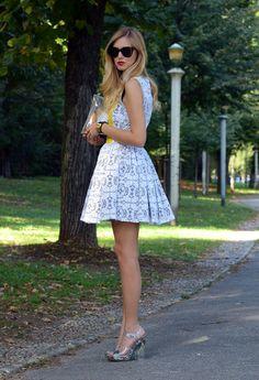 Milan fashion week  , Prada in Heels / Wedges, MSGM in Dresses, Hermes in Bags, Celine in Glasses / Sunglasses