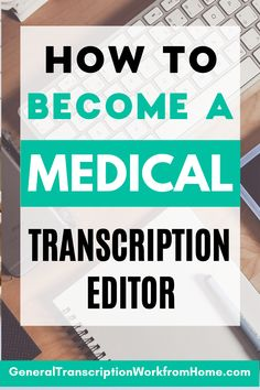 Want to get a medical transcription career? Find out how to become a medical transcriptionist, how to get started in medical transcription editing and become a medical transcription editor. Medical transcriptionists or MTs are now working as medical transcription editors or MT editors and are editing the transcripts generated by speech recognition software. Work from home and get online remote transcription jobs. Typing Jobs From Home, Online Typing Jobs, Online Side Jobs, Best Online Jobs, Work From Home Jobs, Medical Transcription Jobs, Transcription Training, Transcription Jobs For Beginners, Medical Transcriptionist