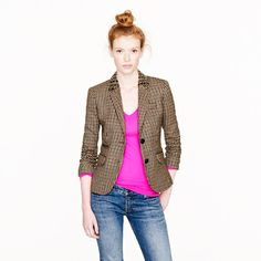 Collection Jeweled-Collar Schoolboy Blazer $325.00    gotta start wearing my blazers with jeans more often