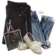 Jeans mit schwarz