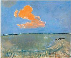 Piet Mondrian, De Rode Wolk (the red cloud) Piet Mondrian, Landscape Art, Landscape Paintings, Dutch Painters, Figurative Art, Art And Architecture, Bunt, Painting & Drawing, Photo Art