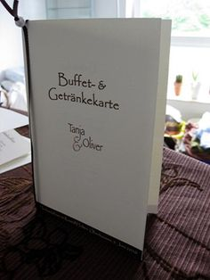 Buffet- Und Getränkekarte