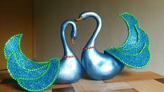 DIY Craft - Blue swan ornaments | Wedding gift idea | Tutorial | By Pune...