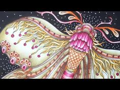 MAGICAL DAWN - MAGISK GRYNING by Hanna Karlzon - prismacolor pencils - color along - YouTube